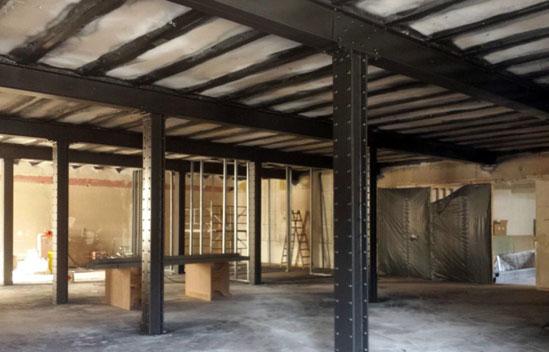 Stahlträger Grundieren eisplus brandschutzbeschichtung und korrosionsschutzbeschichtung